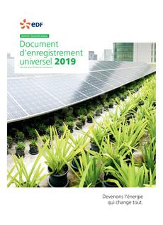 """Couverture - """"Document d'Enregistrement Universel 2019"""""""