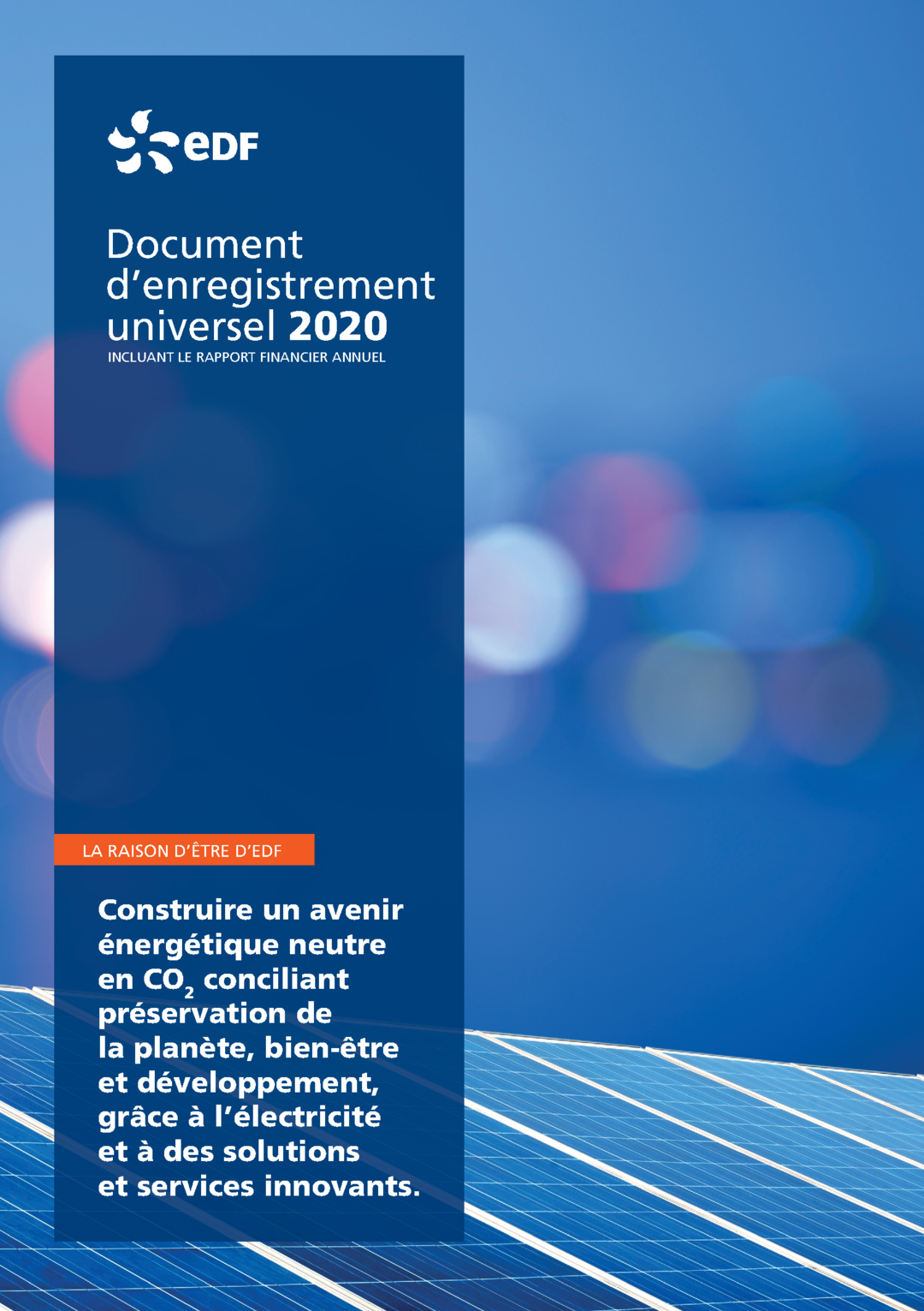 """Couverture - """"Document d'enregistrement universel 2020"""""""